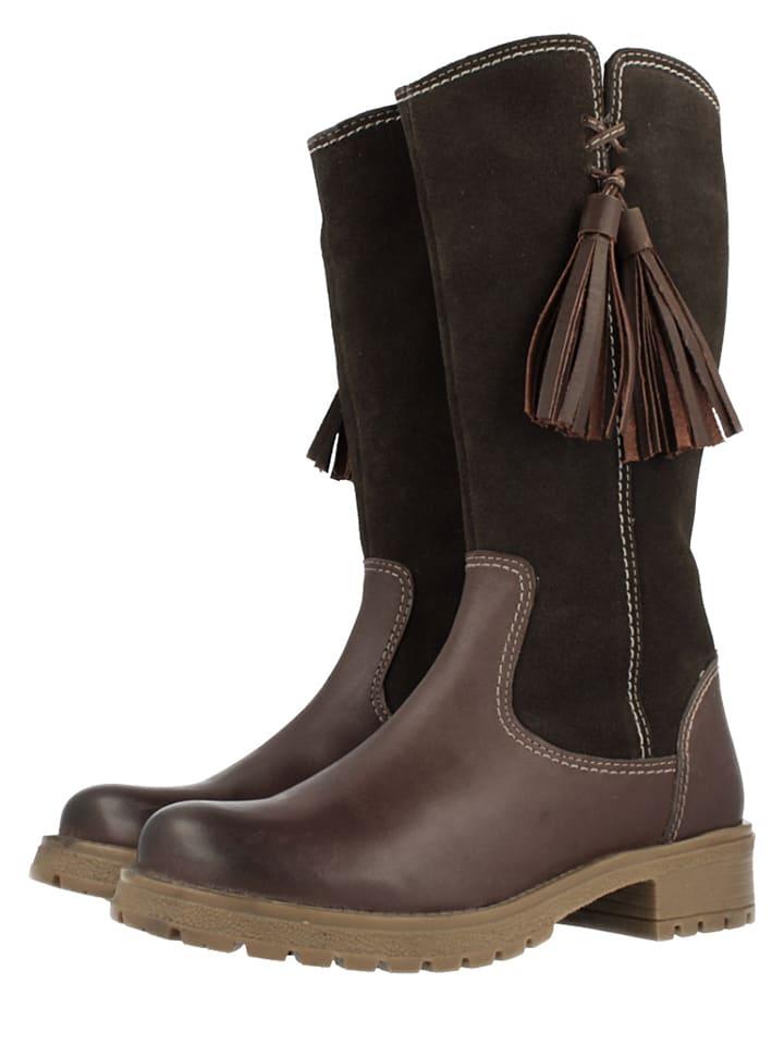 "Gioseppo Leder-Stiefel ""Iowa"" in Dunkelbraun"