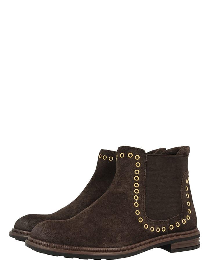 "Gioseppo Leder-Chelsea-Boots ""Seminola"" in Dunkelbraun"