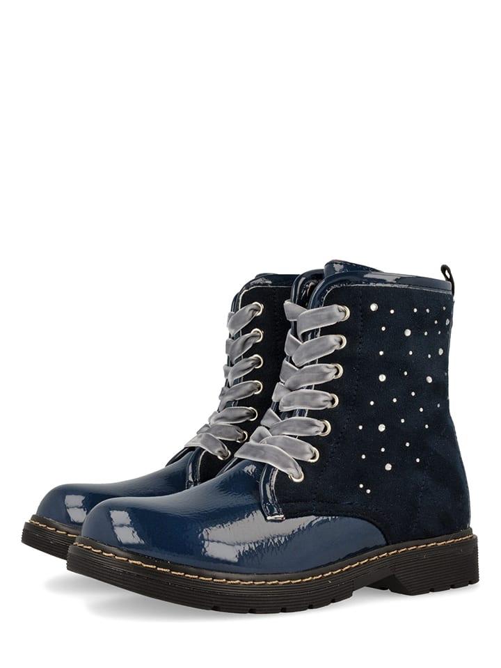 """Gioseppo Leder-Boots """"Irla"""" in Dunkelblau/ Schwarz"""