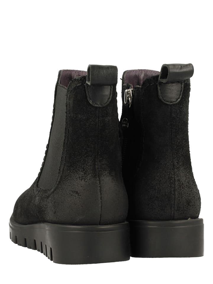 Gioseppo Leder-Chelsea-Boots Muros in Schwarz
