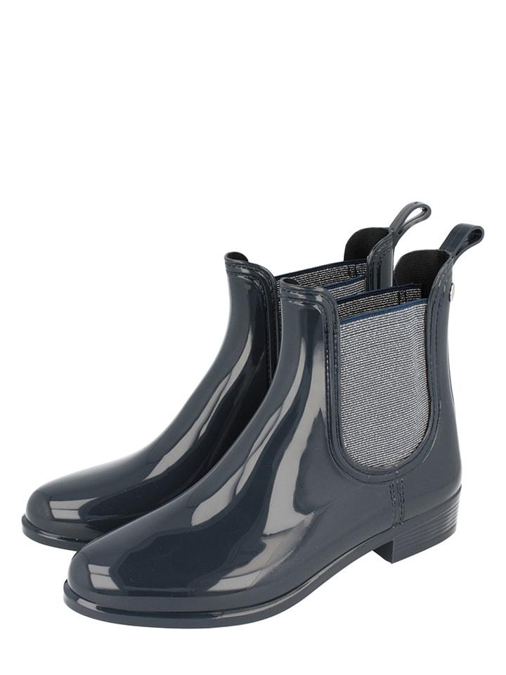 Aktuelle Damen Overknee Stiefel Schuhe Keilabsatz Wedges 4569 Dunkelblau 39