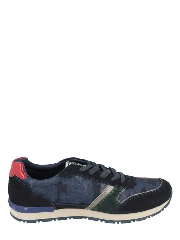 """Gioseppo Leder-Sneakers """"Lomban"""" in Schwarz/ Dunkelblau"""