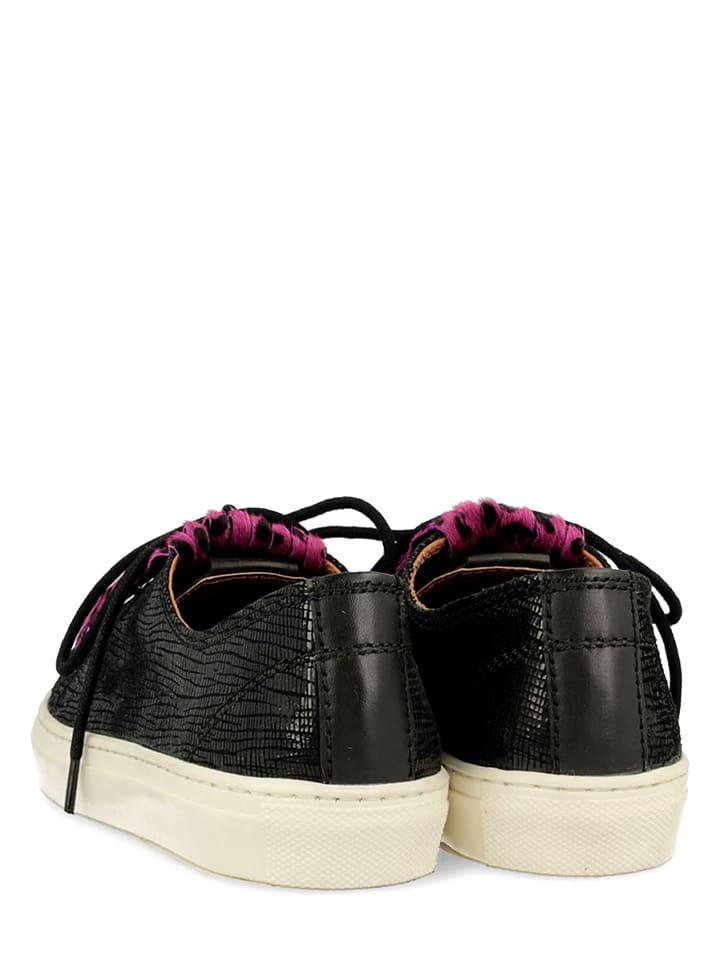 """Gioseppo Leder-Sneakers """"Sevier"""" in Schwarz/ Rosa"""