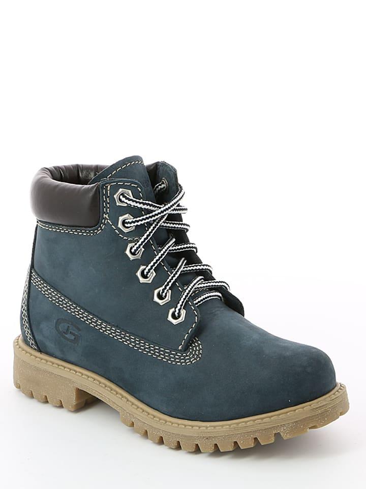"""Grünland Junior Leren boots """"Mich"""" blauw"""