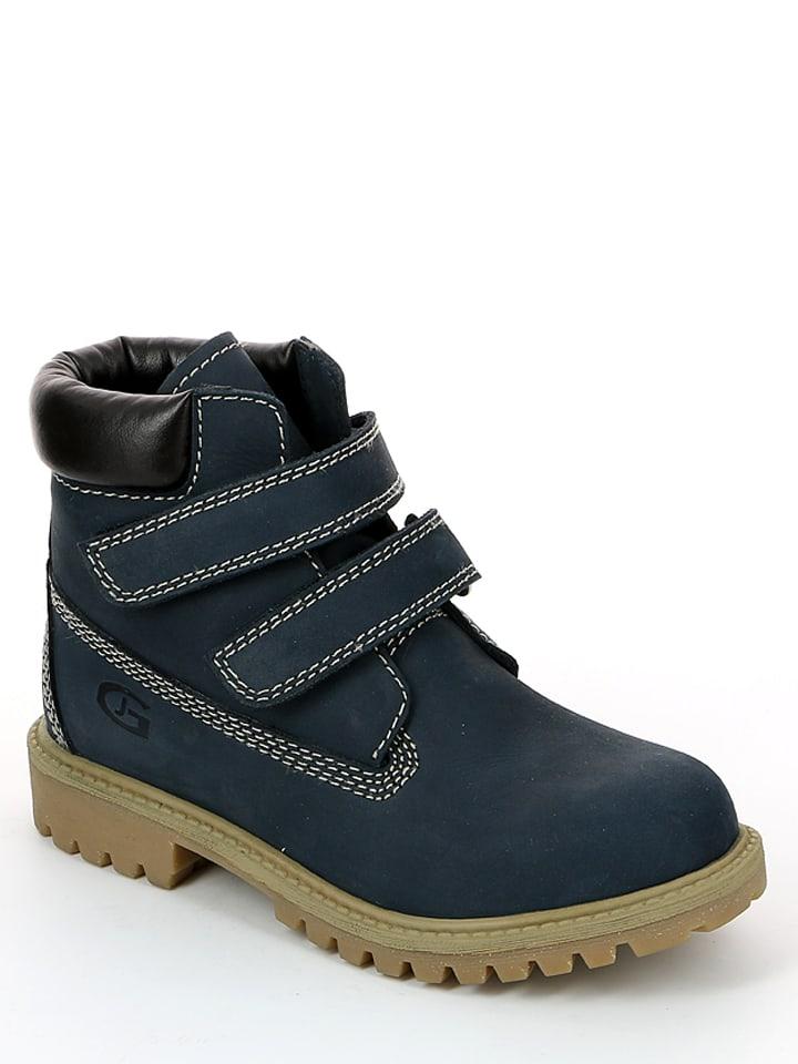 """Grünland Junior Leren boots """"Mich"""" donkerblauw"""