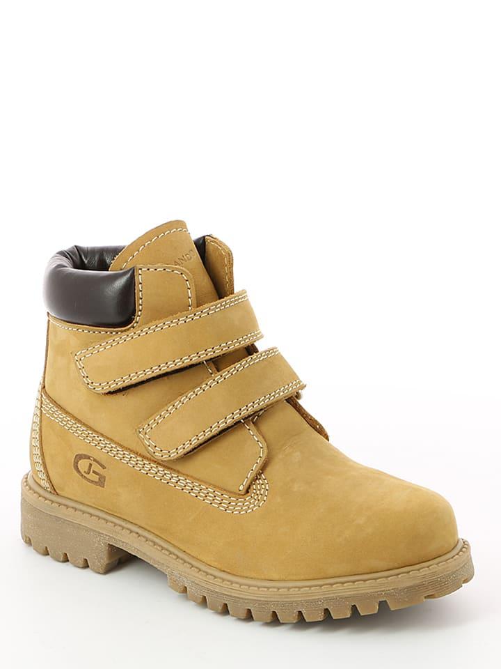 """Grünland Junior Leren boots """"Mich"""" lichtbruin"""