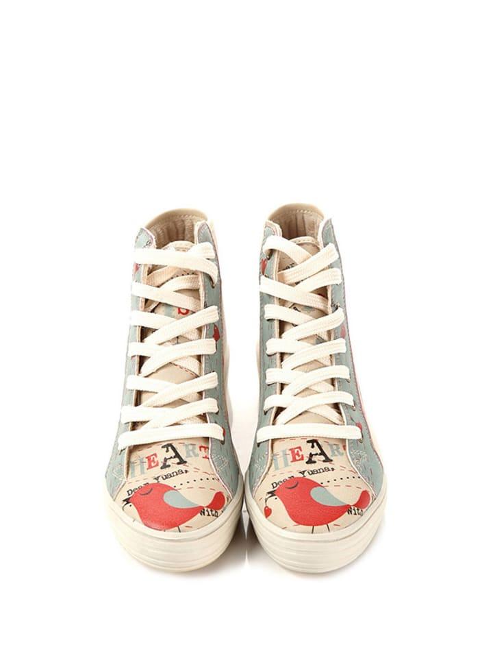 Goby Sneakers in Beige/ Bunt