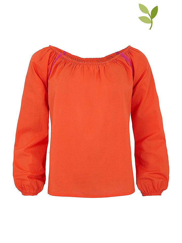 """Tranquillo Shirt """"Finna"""" in Orange"""