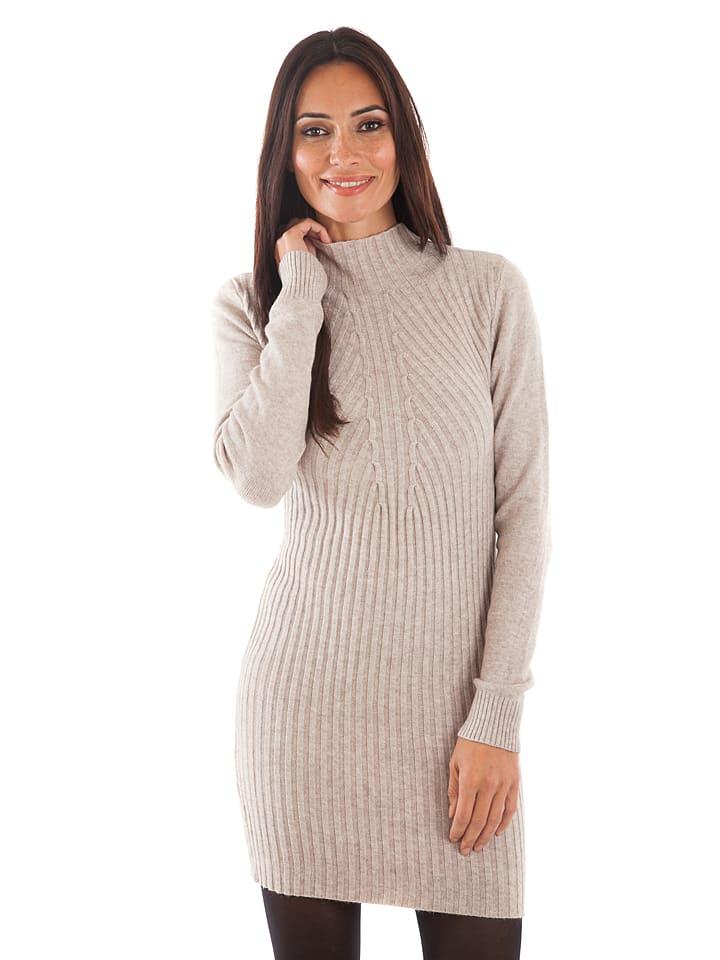 Cashmere 4ever Kleid in Beige