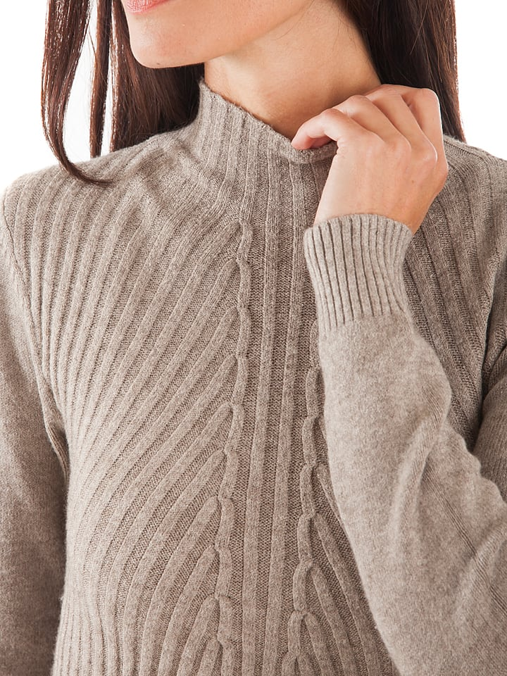 Cashmere 4ever Kleid in Taupe
