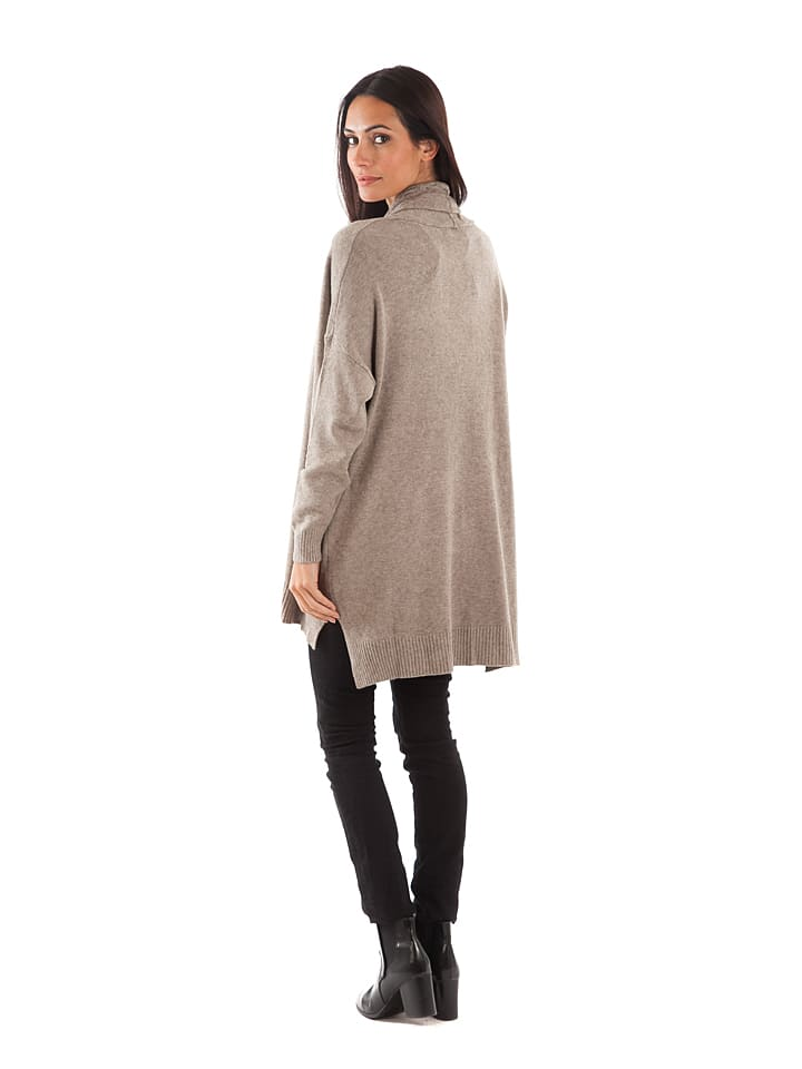 Cashmere 4ever Cardigan in Taupe