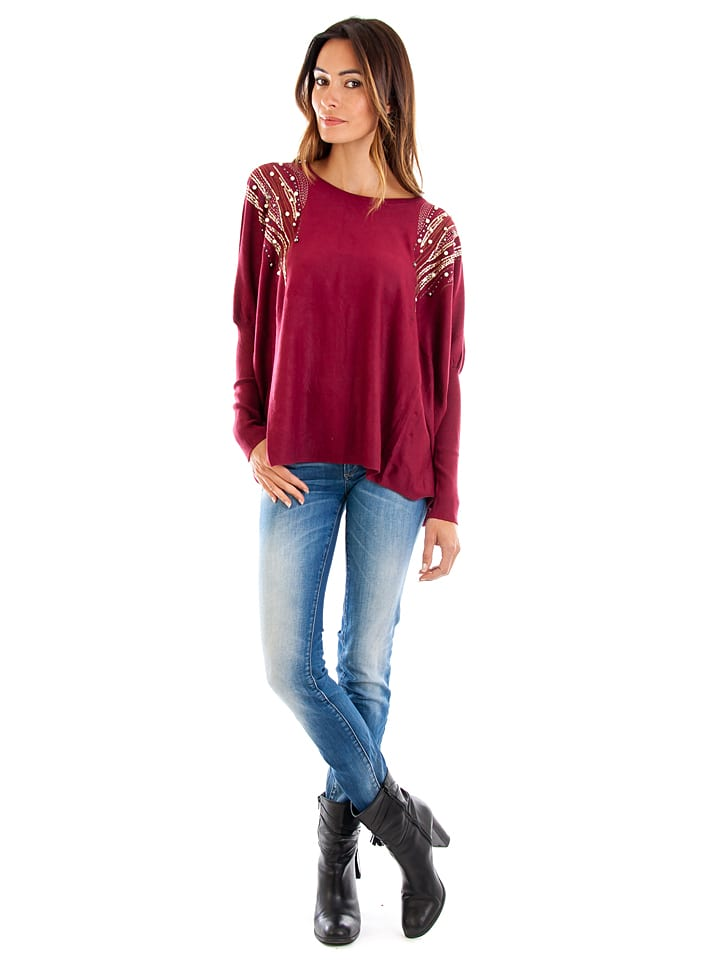 Cashmere 4ever Pullover in Rot
