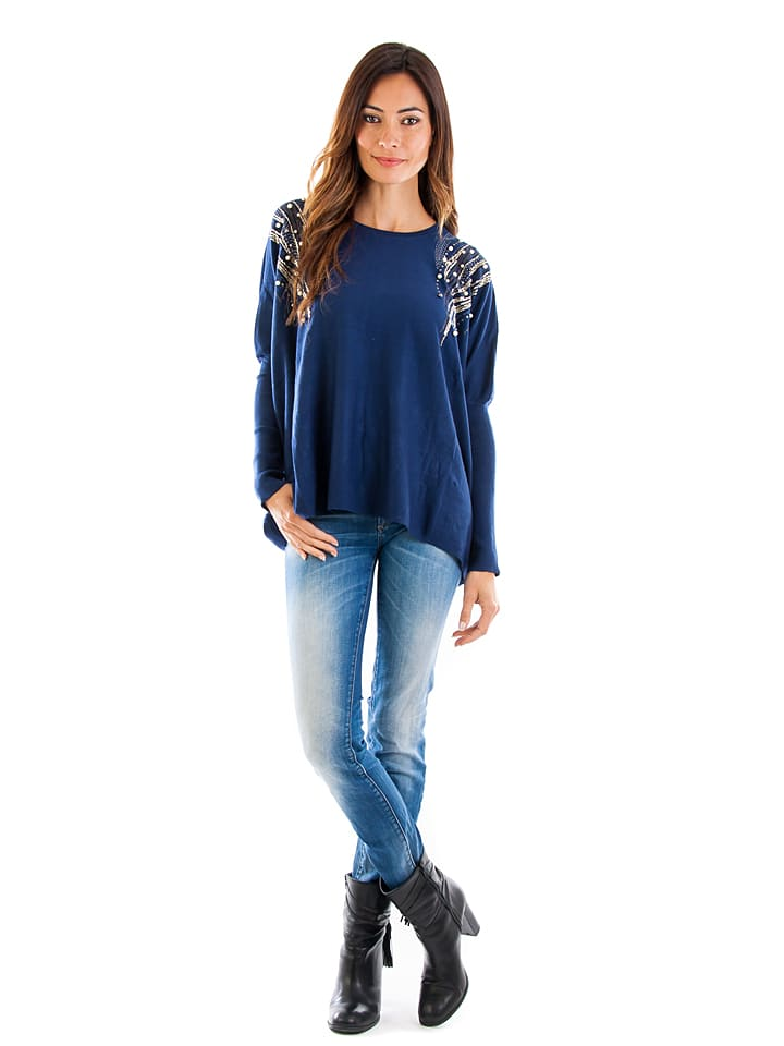 Cashmere 4ever Pullover in Blau