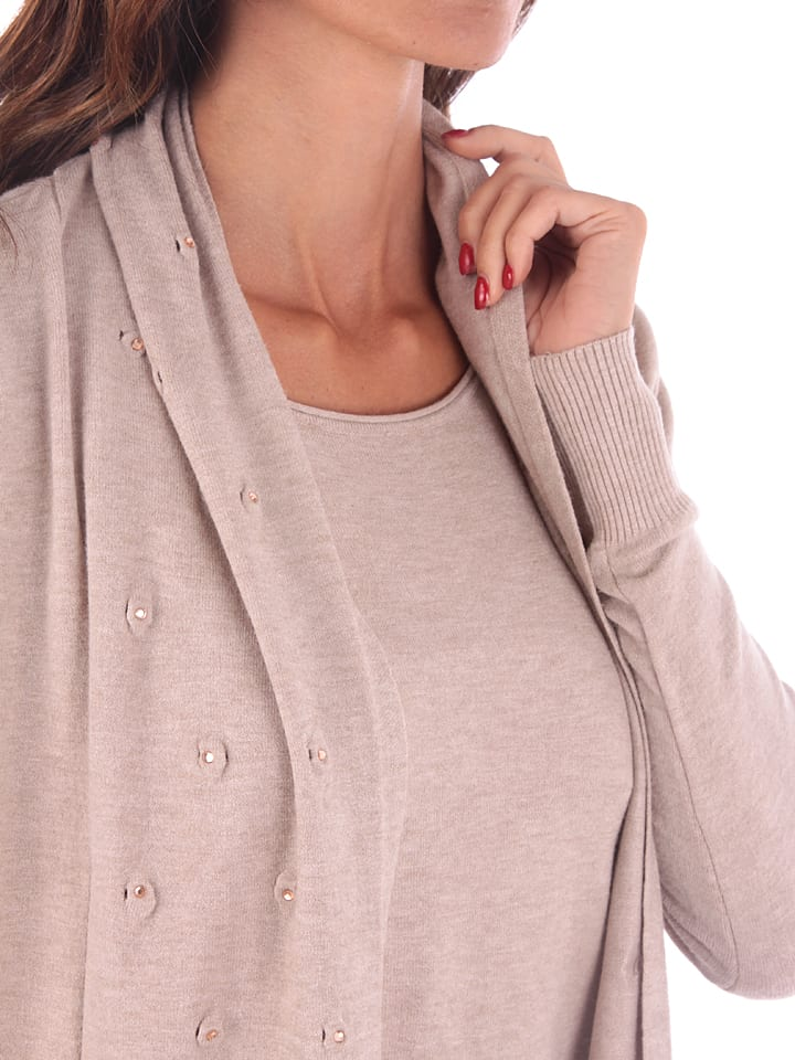 Cashmere 4ever Cardigan in Beige