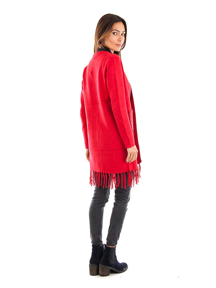 Cashmere 4ever Cardigan in Rot