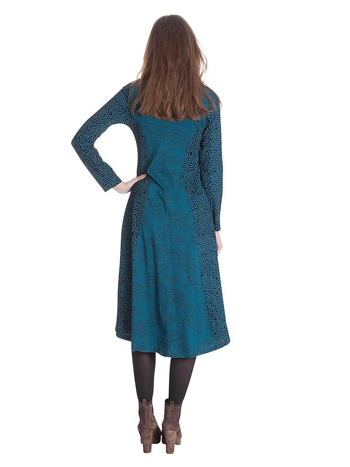Aller Simplement Kleid in Türkis
