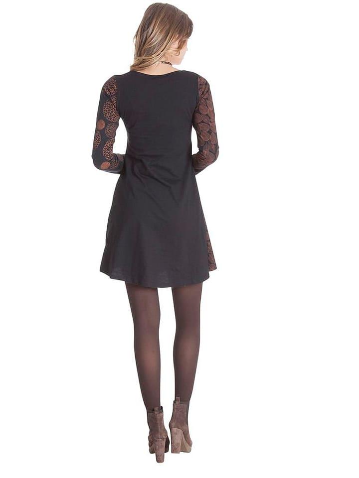 Aller Simplement Kleid in Braun