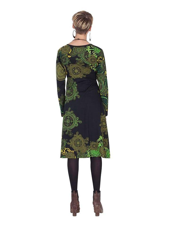 Aller Simplement Kleid in Schwarz/ Grün
