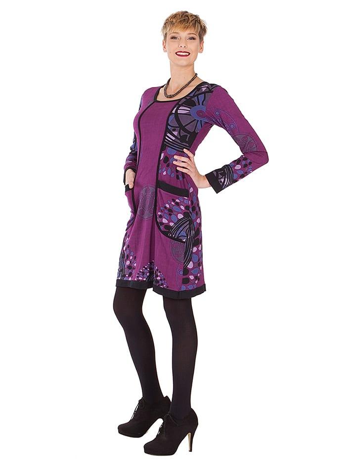 Aller Simplement Kleid in Lila