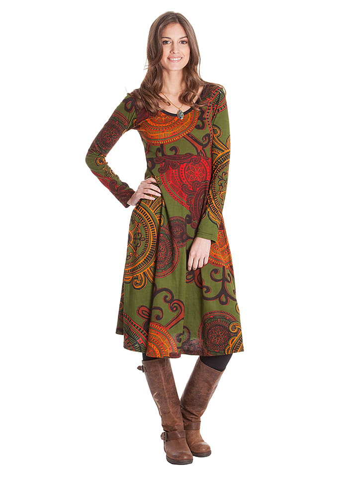 Aller Simplement Kleid in Khaki