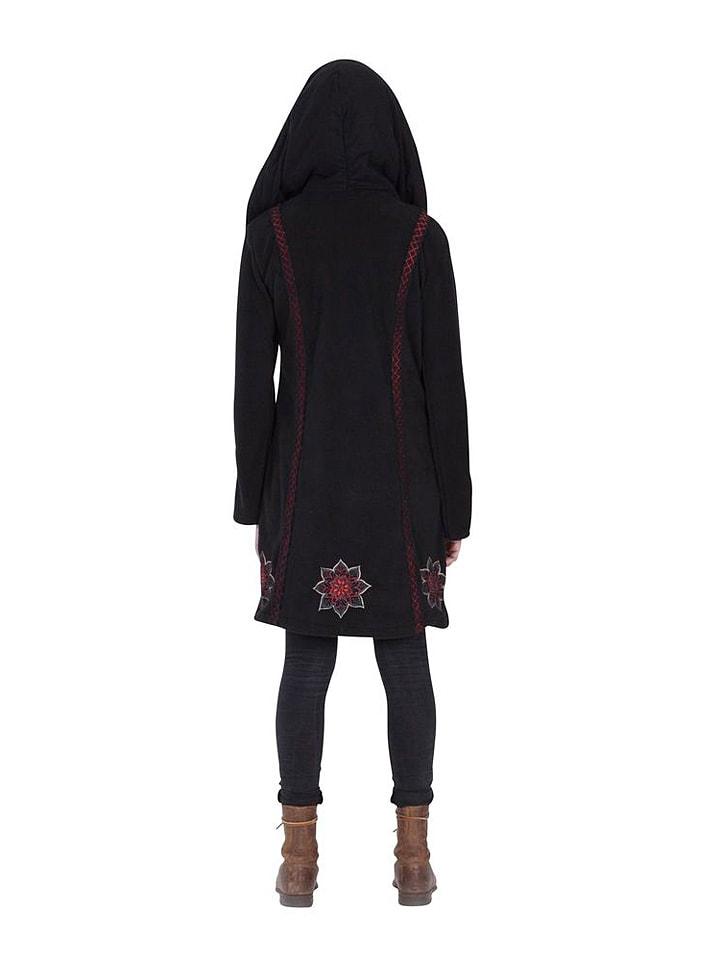 Aller Simplement Jacke in Schwarz/ Rot