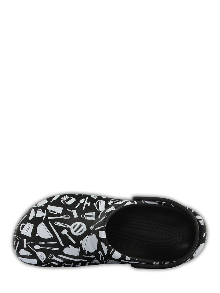 "Crocs Clogs ""Bistro Graphic"" in Schwarz/ Grau"