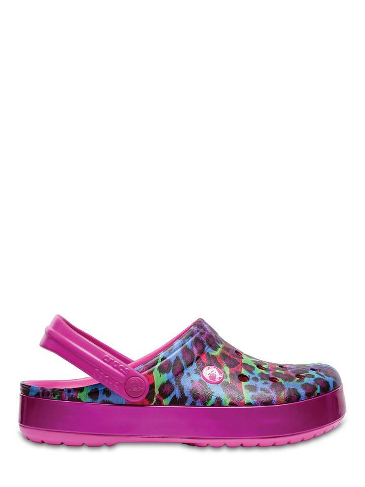 "Crocs Clogs ""Crocband Animal II"" in Pink/ Bunt"