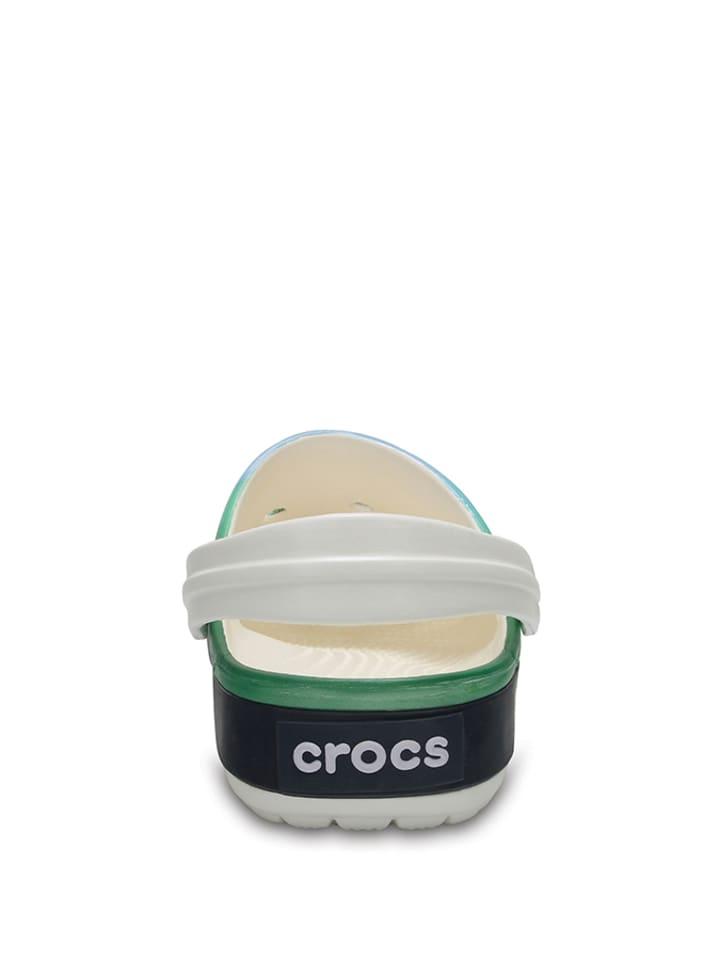 "Crocs Clogs ""Crocband Tropics"" in Grün/ Blau/ Weiß"
