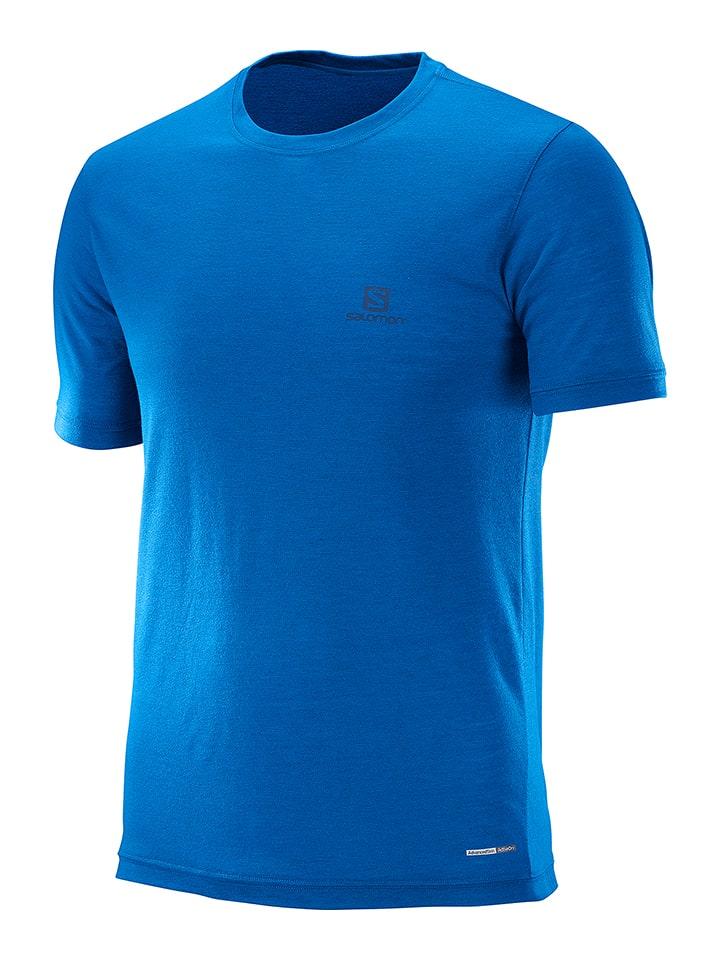 """SALOMON Shirt """"Explore"""" in Blau"""