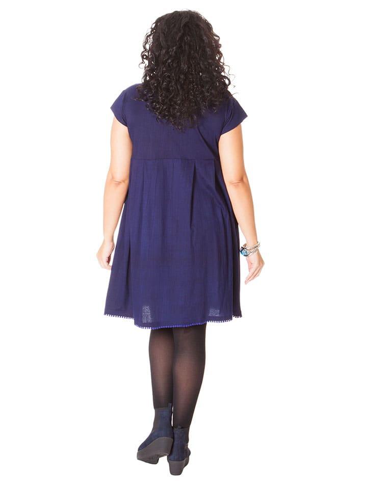 Aller Simplement Kleid in Dunkelblau