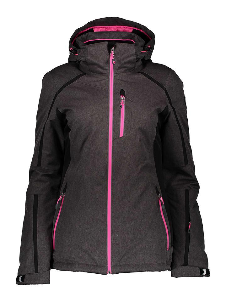"""Killtec Kurtka narciarska """"Lynn"""" w kolorze szaro-różowym"""