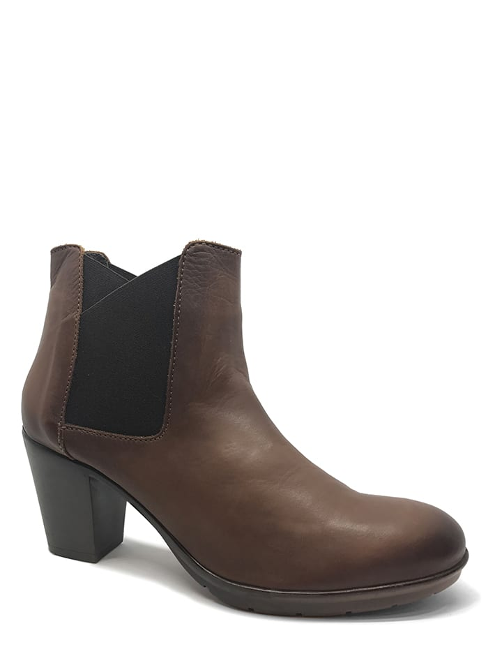 CHIKA10 Leder-Chelsea-Boots in Braun - 64% eIYDj