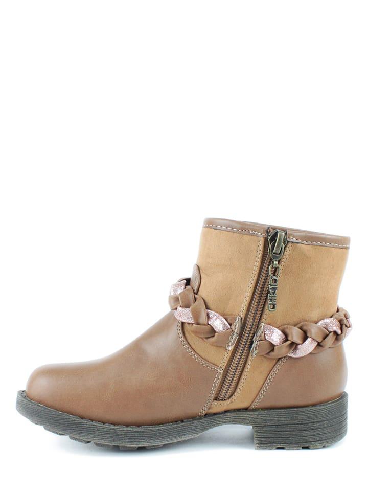 CHIKA10 Boots in Hellbraun