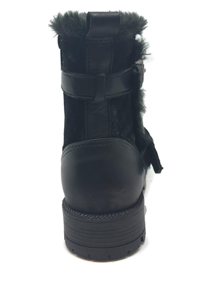 CHIKA10 Leder-Boots in Schwarz