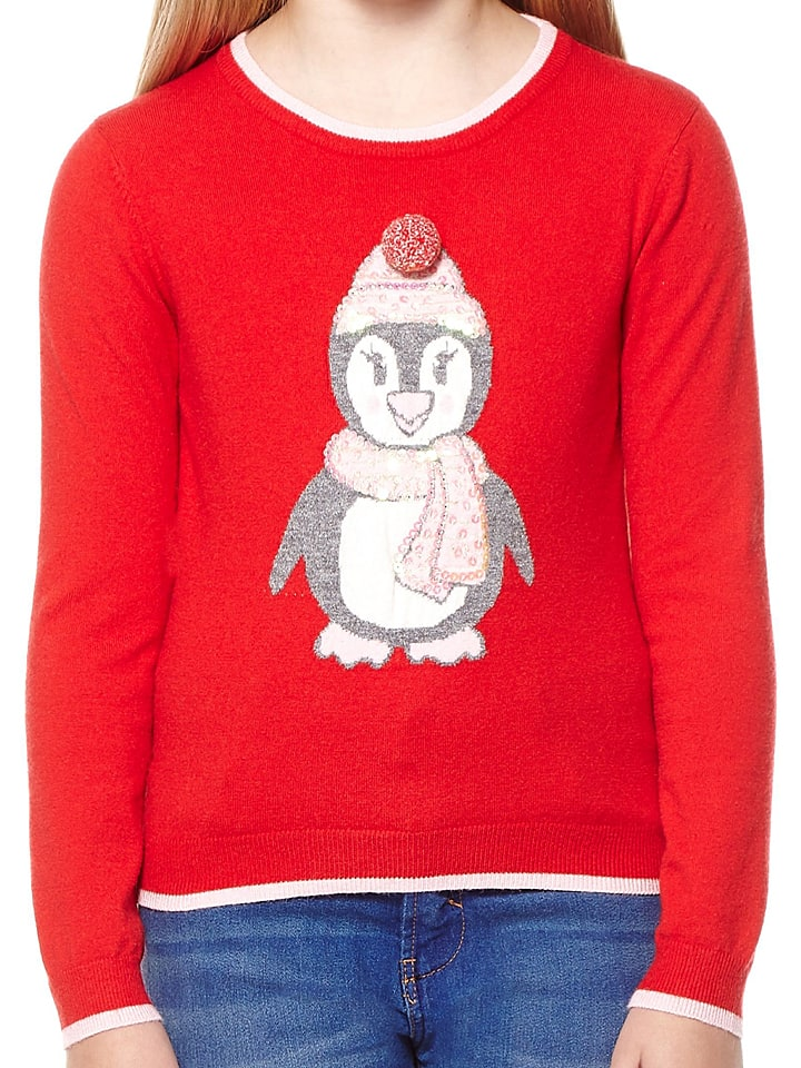 Yumi Girl Pullover in Rot