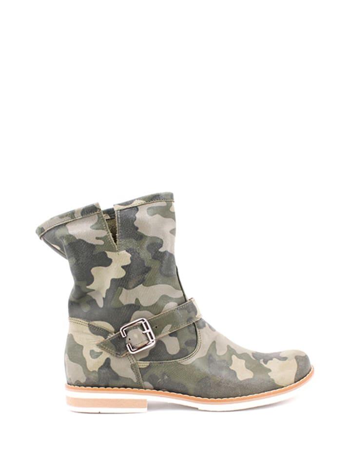 Zapato Leder-Boots in Khaki - 68% yTNLryB