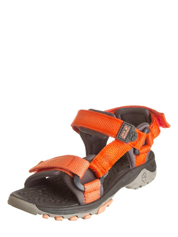 Jack Wolfskin Sandały w kolorze szaro-pomarańczowym