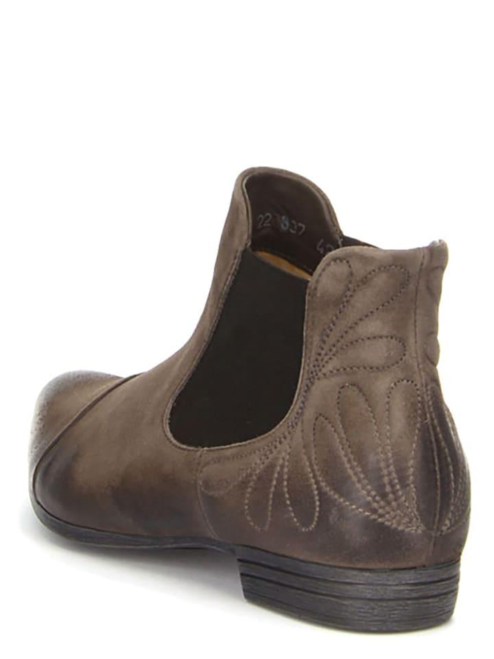 Think! Leder-Chelsea-Boots Bussi in Beige
