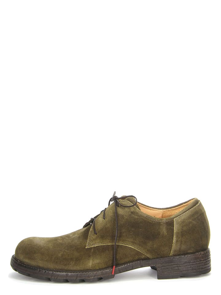Think Leder-Schnürschuhe Hawara in Khaki - 53%
