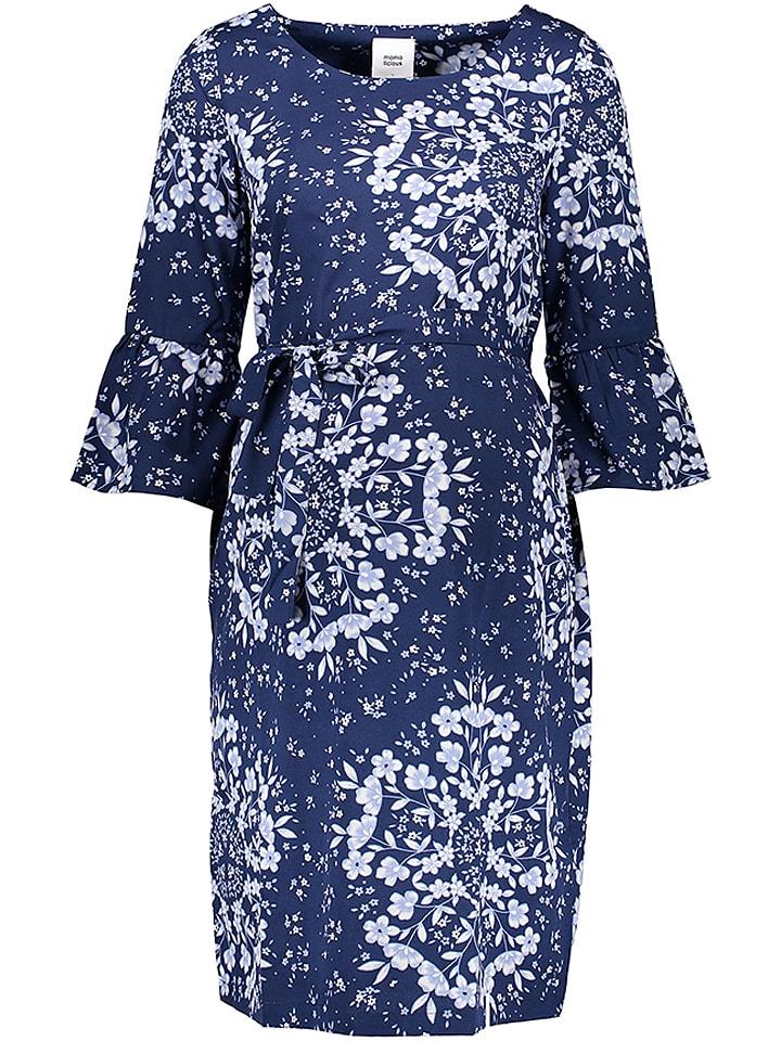 Mama licious Kleid in Dunkelblau