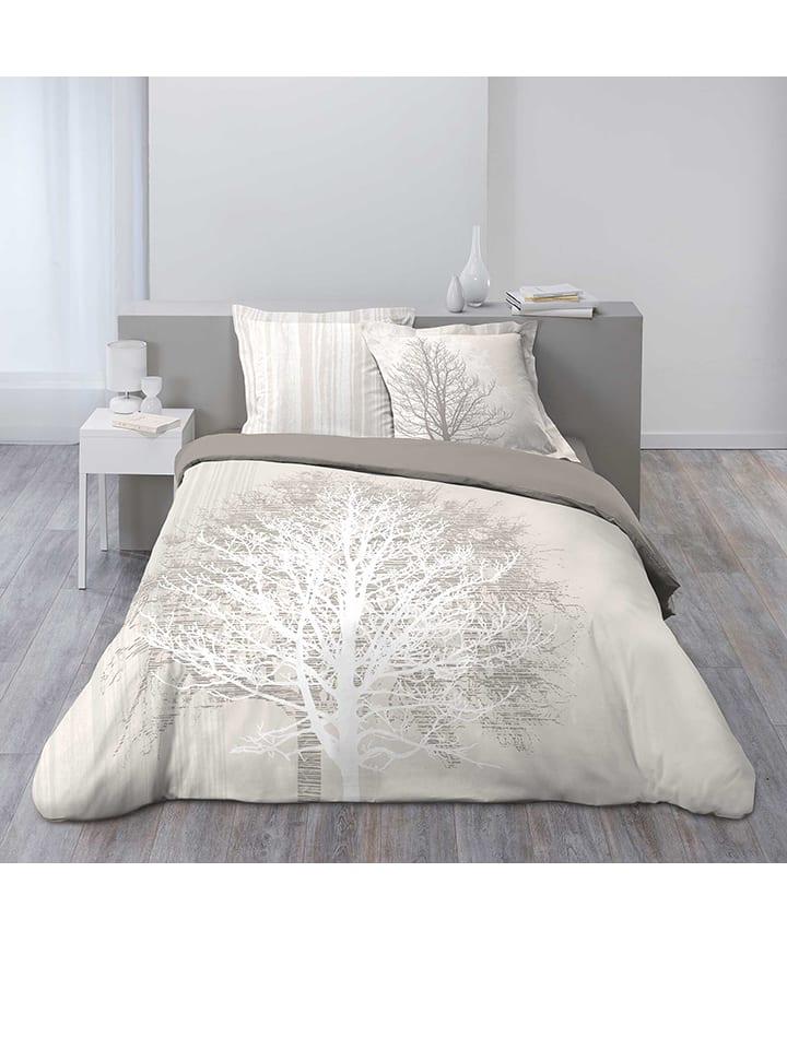 Douceur d int rieur parure de lit en coton arbora - Parure de lit beige et marron ...