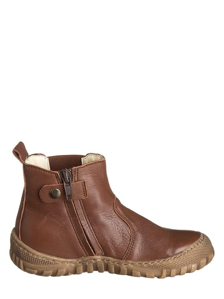 BO-BELL Leder-Chelsea-Boots in Braun