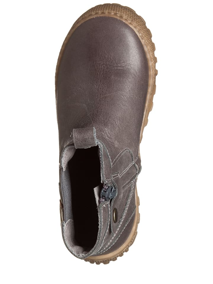 BO-BELL Leder-Chelsea-Boots in Taupe