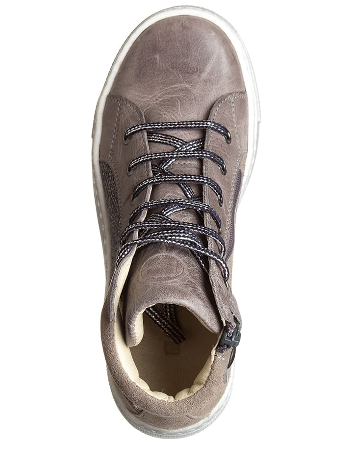 BO-BELL Leder-Sneakers in Taupe