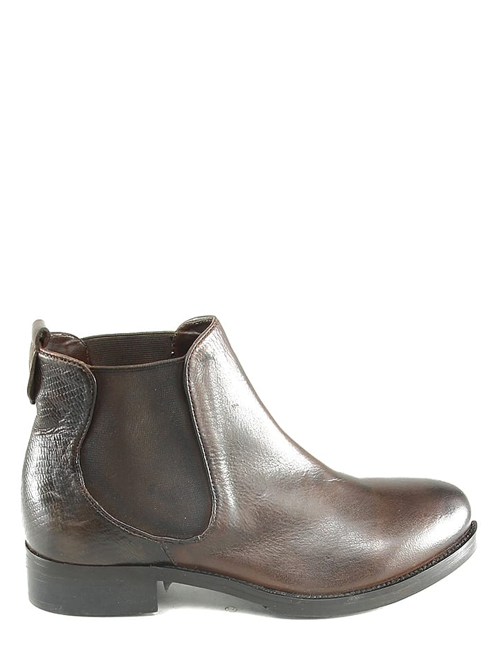 Manoukian Leder-Chelsea-Boots Margaux in Braun - 72%