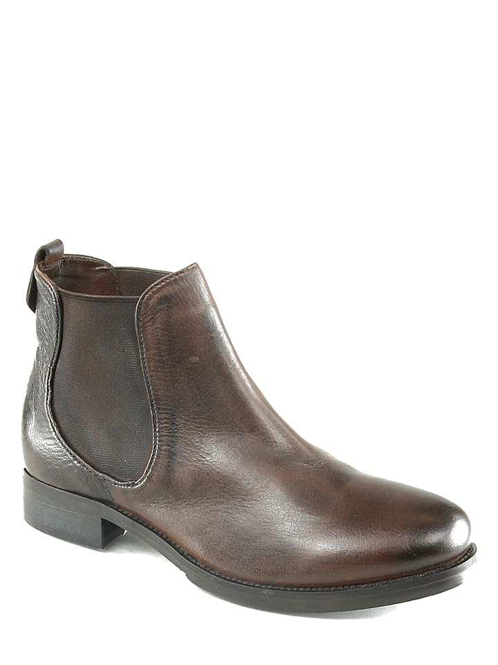 Manoukian Leder-Chelsea-Boots Margaux in Braun - 72% AtdTsLWwR