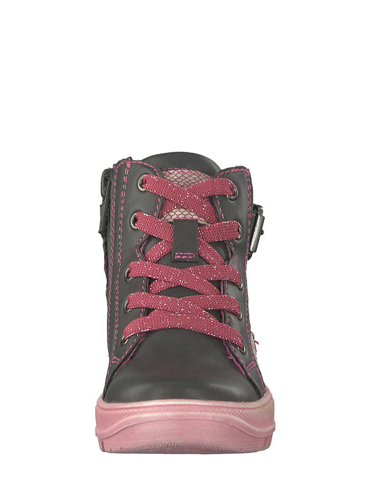 S. Oliver Boots in Grau/ Pink