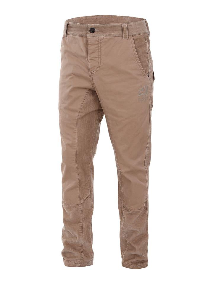 """Maloja Spodnie sztruksowe """"FedozM."""" w kolorze jasnobrązowym"""