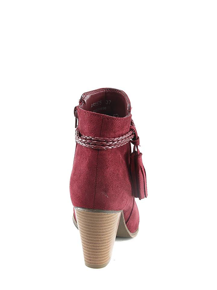 Catisa Stiefeletten in Rot