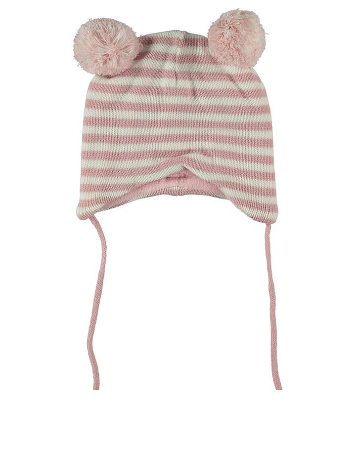Tom Tailor Bonnet en maille - rose/blanc